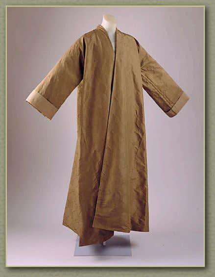 18th Century Material Culture Banyans, Gowns, & Night Shirts