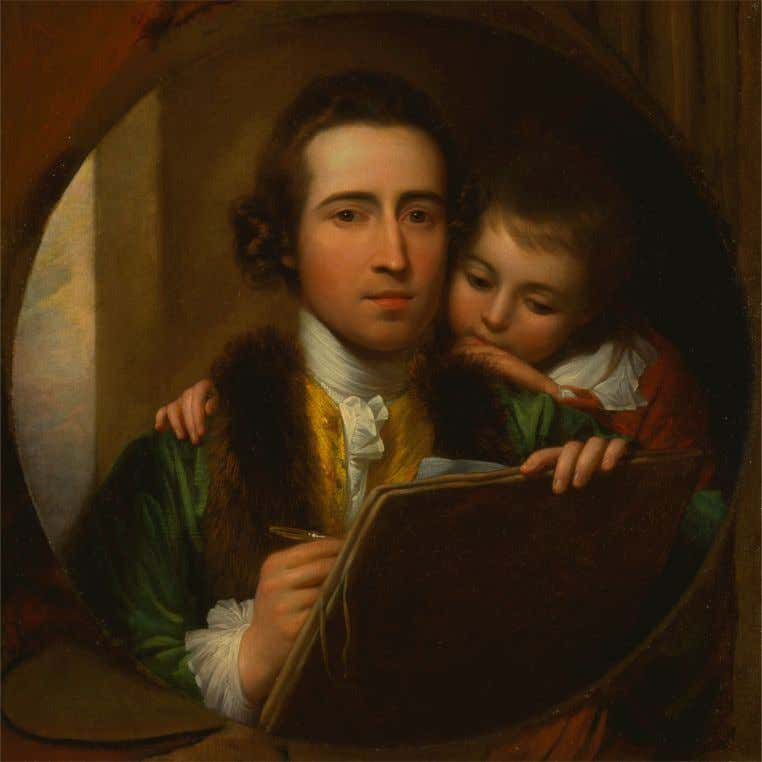 Benjamin West & His Son, Raphael by Benjamin West 1773 (Yale Center for British Art)