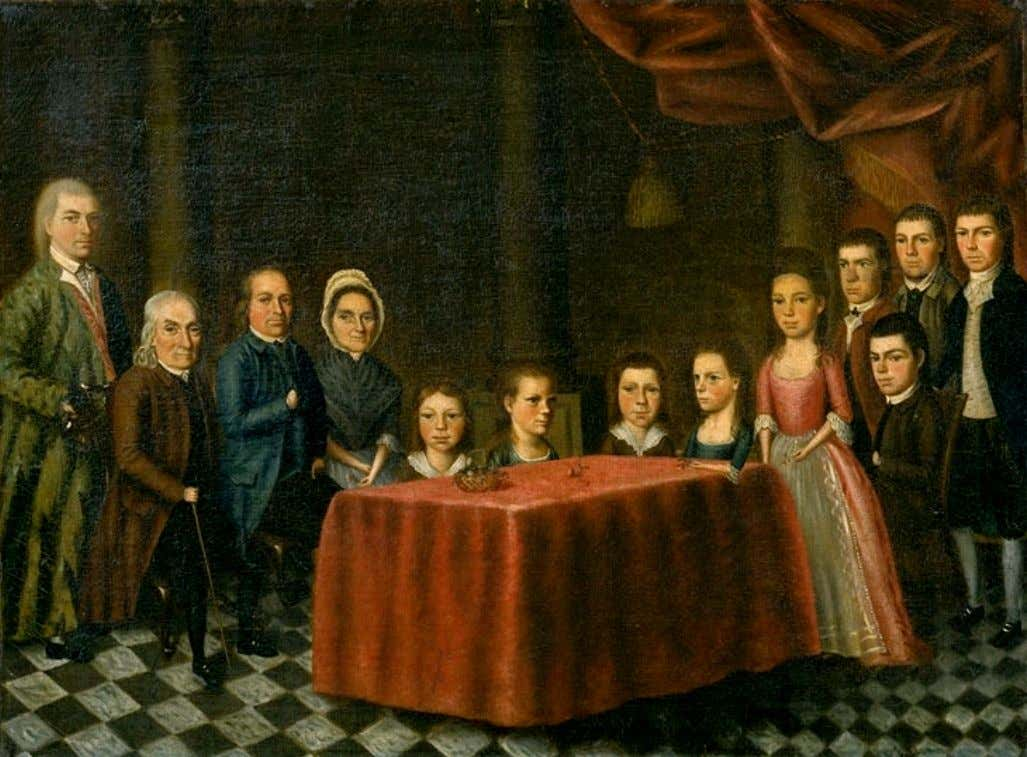 The Savage Family by Edward Savage c. 1779 (Colonial Williamsburg)
