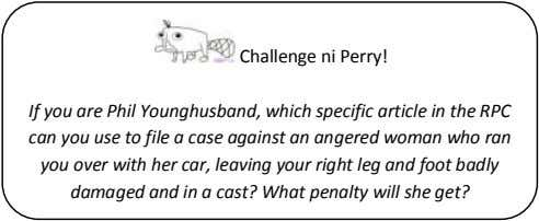 Challenge ni Perry! If you are Phil Younghusband, which specific article in the RPC can you