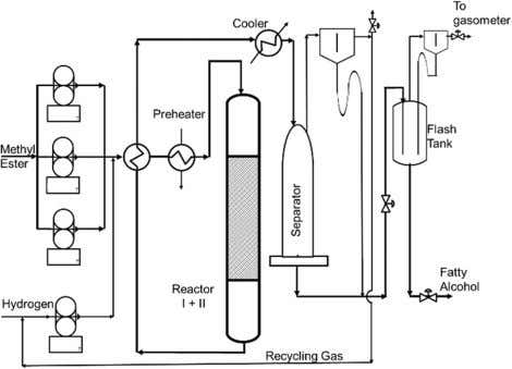 J Am Oil Chem Soc Fig. 4 Schematics of methyl and wax ester fixed bed processes