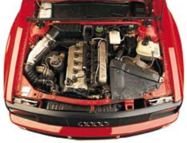 A UDI Q UATTRO S PORT 43 E NGINE The five-cylinder 2133cc alloy engine is 22.7