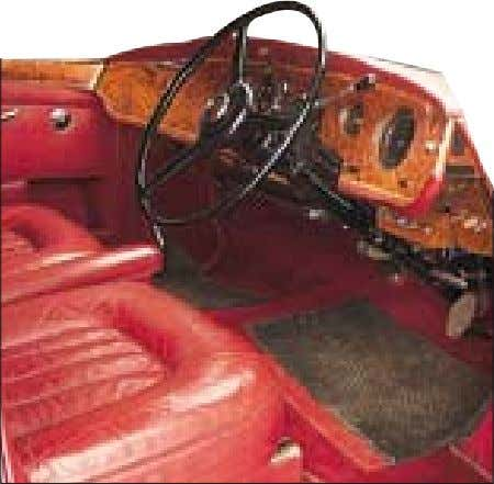 Bentley, they cost some £2,500 more than the stock item. I NTERIOR Interior includes carefully detailed