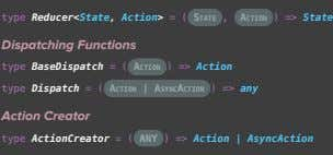type Reducer<State, Action> = ( State , action ) => State Dispatching Functions type BaseDispatch
