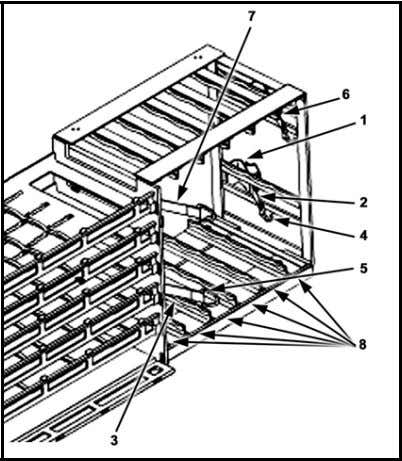 120-mm a mmunition in the vertical rack (Figure 2-4). Figure 2-4. Left side 120-mm ammuni tion