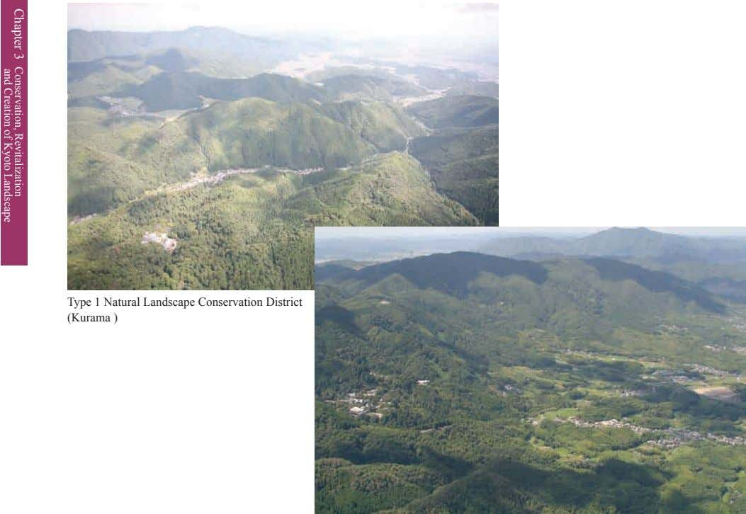 Type 1 Natural Landscape Conservation District (Kurama ) Chapter 3 Conservation, and Creation of Revitalization