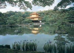 (10) View of the Golden Pavilion at Rokuonji Temple (Kinkakuji) Picture provided by Rokuonji Temple