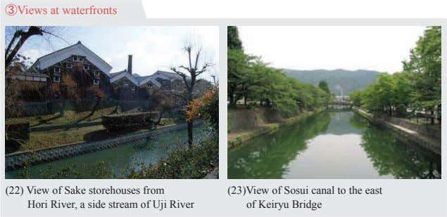 ③Views at waterfronts (22) View of Sake storehouses from   Hori River, a side stream of