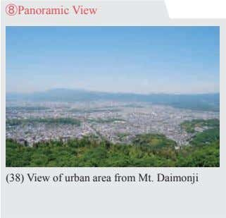 ⑧Panoramic View (38) View of urban area from Mt. Daimonji