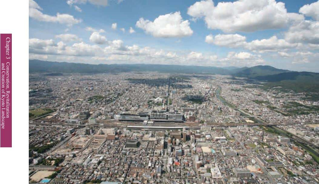 Chapter 3 Conservation, and Creation of Revitalization Kyoto Landscape