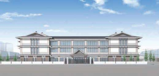 Sakyo Ward Office (Rendering) An elementary and junior high school building in Higashiyama Ward (Rendering)