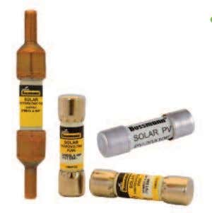 PV fuses 10x38mm Bussmann series PV fuses — 1000Vdc, 1-20A Description: A range 10x38mm, 1000Vdc PV