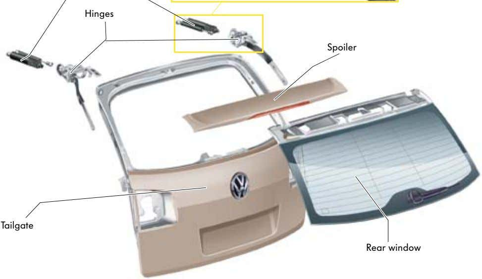 Spoiler Tailgate Rear window