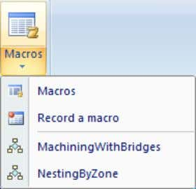 1.22.1. Macro creation WHAT'S NEW IN VERSION 2011 Click 'Record a macro' and all the options