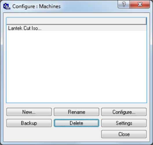 has been added to the 'configure Machines' window. This button allows the user to delete machi