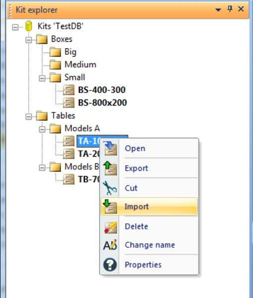 "mouse right button, click over the ""Import"" option. The system will require the quantity of the"