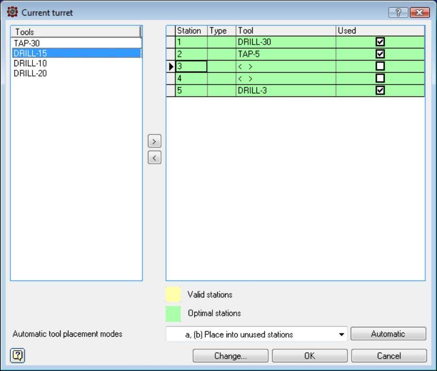 WHAT'S NEW IN VERSION 2011 In this window one tool can be changed for anot her