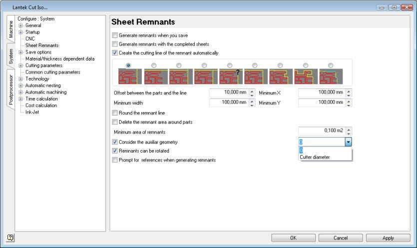WHAT'S NEW IN VERSION 2011 The following options exist: Generate remnants without considering auxiliary geometry.