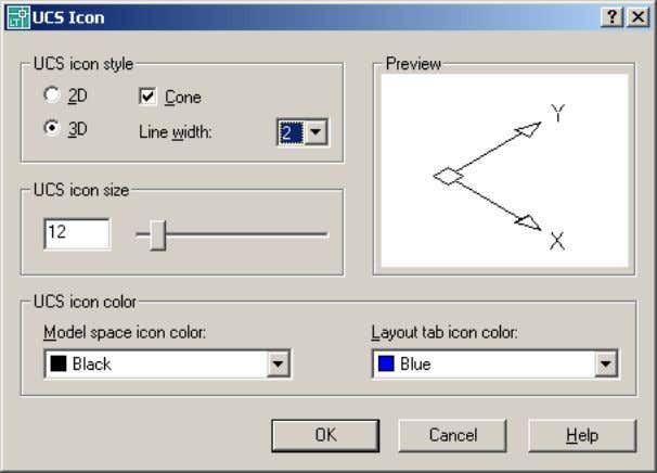 option. AutoCAD LT displays the UCS Icon dialog box. Online Help Help | Help Autodesk provides