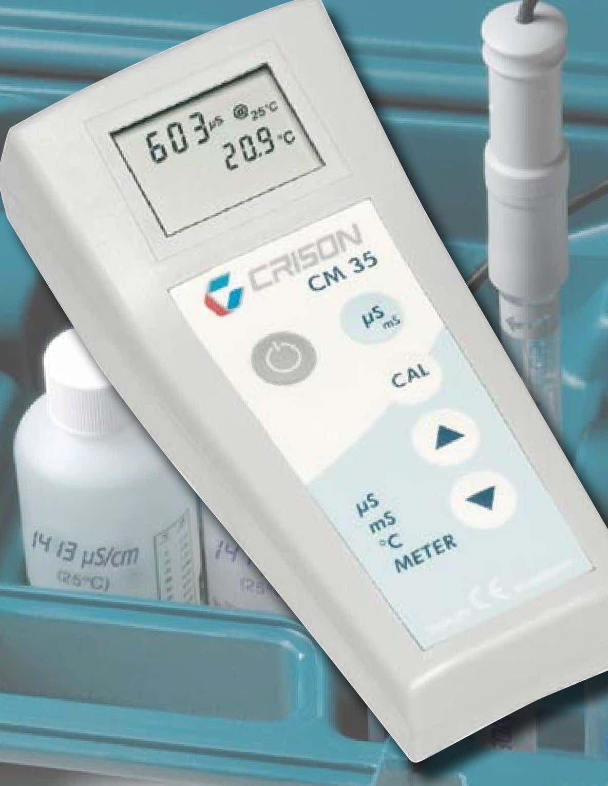 CM 35 µS, mS, o C METER The easy way