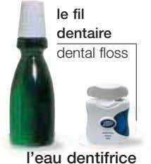 le fil dentaire dental floss l'eau dentifrice