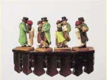 our standard HF-figures simply by turning each figurine. HTP = handbe- malte Tanz- paare hand-painted dancing