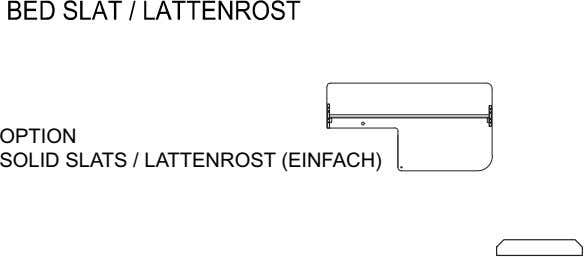 OPTION SOLID SLATS / LATTENROST (EINFACH)