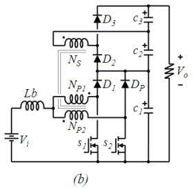 boost converter is shown in Fig. 1(b) as proposed in [6]. Fig. 1. Recently proposed coupled