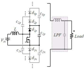 according with their relative position to the switch. Fig. 6. low-pass filter. Generalized multiplier boost