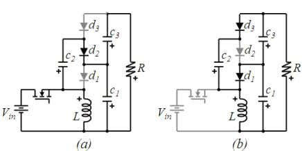 utilization when the switch is on and off respectively. Fig. 14 2x multiplier buck-boost Converter (a)