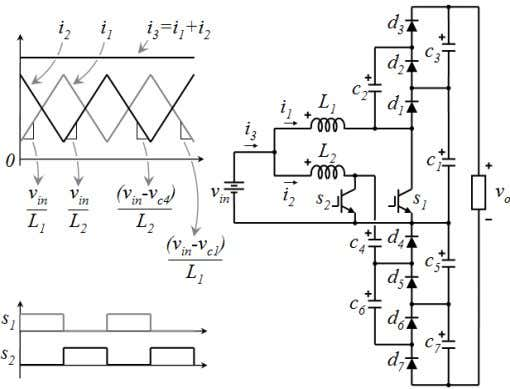 balance, ideal to feed a diode clamped multilevel inverter. Fig. waveforms. 18. Proposed interleaved multiplier topology