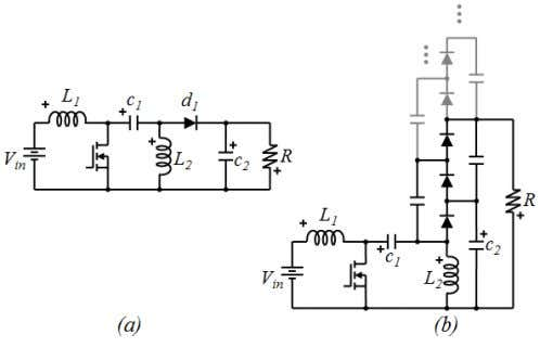 a diode, and in this way start a diode-capacitor multiplier. Fig. 17. (a) traditional SEPIC converter