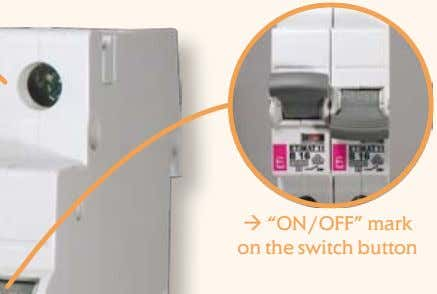 " ""ON/OFF"" mark on the switch button"