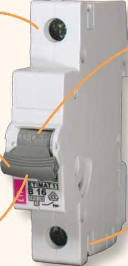 "ETIMAT11  ""ON/OFF"" mark on the switch button  Better protection of terminals against touching the"