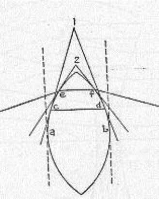 • A convex lens may be regarded as a series of prisms bases toward the middle