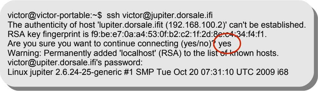 victor@victor-portable:~$ ssh victor@jupiter.dorsale.ifi The authenticity of host 'lupiter.dorsale.ifit