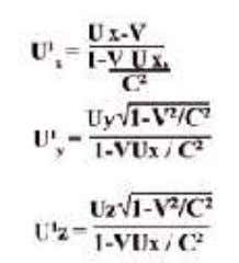 /dt'= dz v √ 1-V 2 /C 2 /dt-vdx/c 2 ; The reverse equation are Above