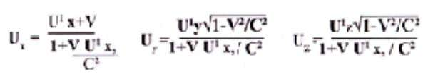 of motion to another state of motion we use the formula. If the velocity C is