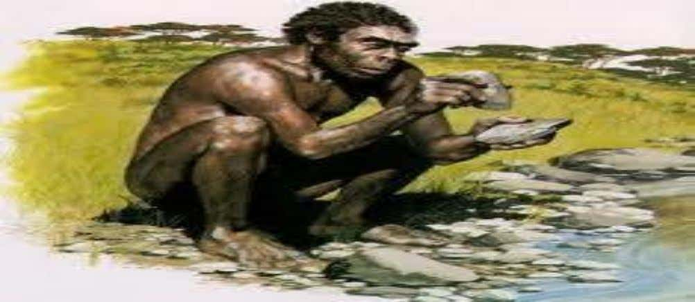 An Example from the STONE AGE Human action of stone chipping Natural Stone Stone tool 16