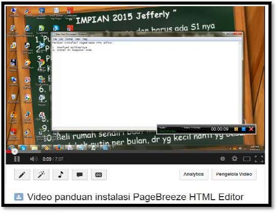 Video pa nduan instalasi PageBreeze HTML Editor ∑ Template squeeze page (minisite) . Ada banyak