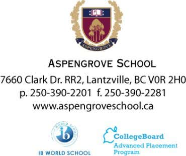 your reply by February 28, 2012. Sincerely, The Aspengrove School Gala Committee Liz Simard - lsimard@aspengroveschool.ca