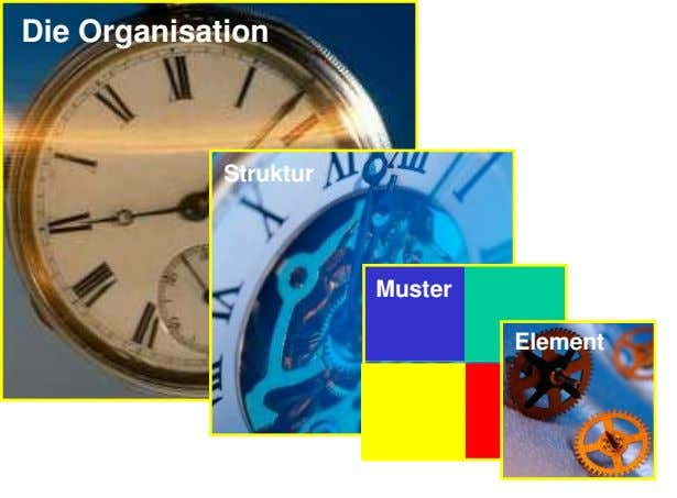 Die Organisation Struktur Muster Element
