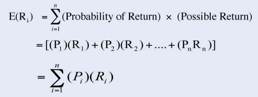 Expected Rates of Return  Computing Expected Rate of Return where P R = Probability for