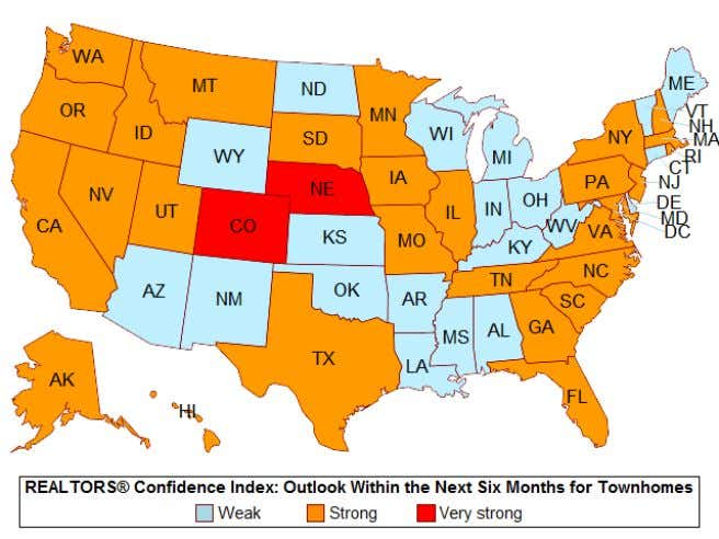 a positive outlook about conditions in the next six months. 9 National Association of REALTORS ®