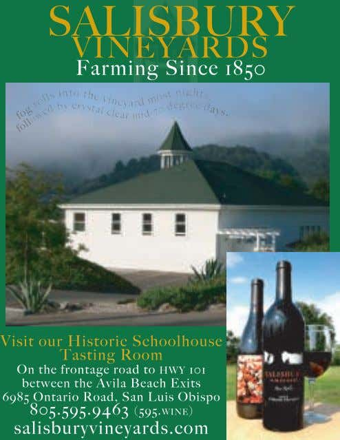 Don Fritzen for more information, 1-800-850-4370 or emaill don@touringandtasting.com. 15 www.winecountrythisweek.com