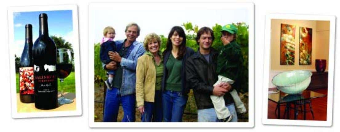 ON THE COVER WINE COUNTRY THIS WEEK Milla, John and Maridel Salisbury, Jennifer, Kevin and Drake