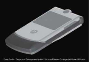 using physical models. A soft model from the RAZR project, made using rapid prototyping technology, is