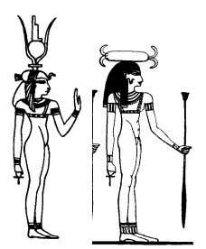 following are the most important forms of the goddess. 6 Aset, Net, Sekhmit, Mut, Hetheru Mehurt