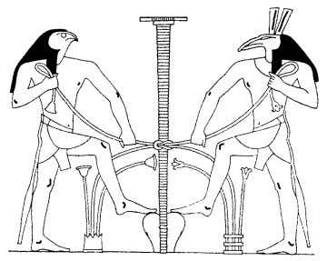 Egyptian Yoga Volume II Above left: Smai Heru-Set, Heru and Set join forces to tie up