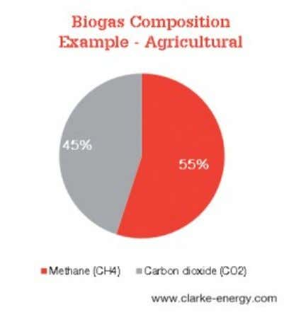 00:25 Biogas composition Biogas consists primarily of methane (the source of energy within the fuel) and